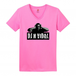 Ladies Pink V-Neck