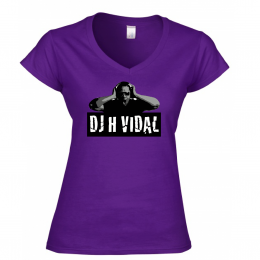 Ladies Purple V-Neck